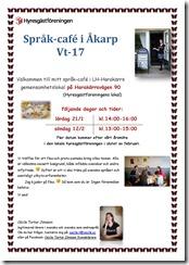Affisch Språk-café Vt-17-två datum