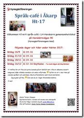 Affisch Språk-café ht-17