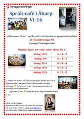 Affisch Språk-café Vt-16 - del 2